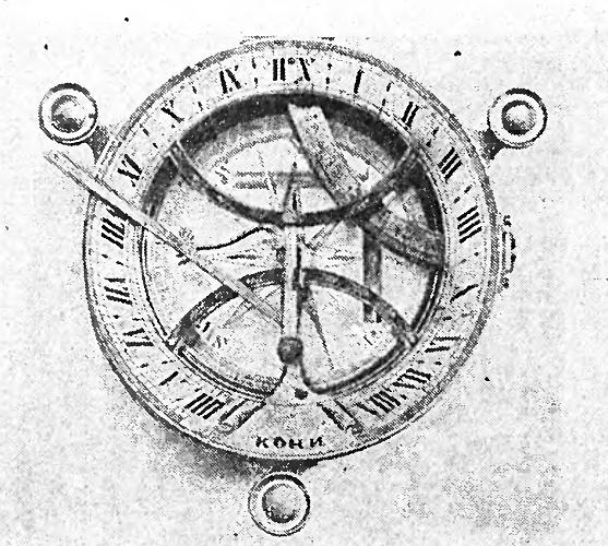 Солнечные часы мастера Кони