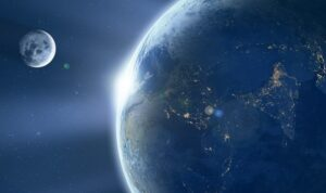 Время Земли и Луна